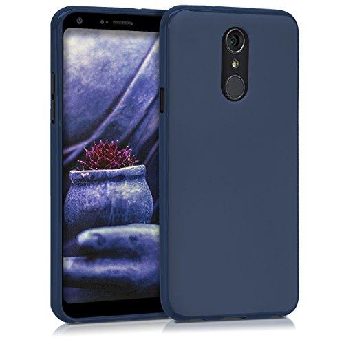 kwmobile LG Q7 / Q7+ / Q7a (Alpha) Hülle - Handyhülle für LG Q7 / Q7+ / Q7a (Alpha) - Handy Case in Dunkelblau matt