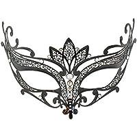 """La Fucina dei Miracoli, Máscara Veneciana En Filigrana De Metal Con Cristales de Swarovski® originales, """"Loto"""""""