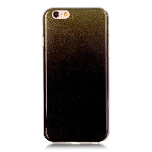 iPhone Case Cover Transparente Steigung-Farben-weiche TPU Schutzüberzug-Fall-weiche rückseitige Abdeckung für iPhone 6 6s ( Color : Multi-colored , Size : IPhone 6 6s ) Multi-colored