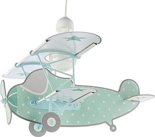 Dalber Stars Plane Lámpara Infantil, Verde