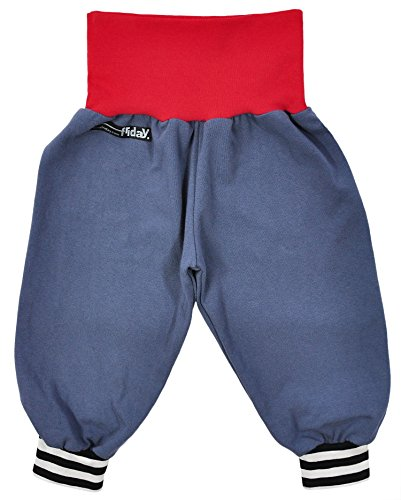 Anna Friday, Unisex Baby, Pumphose, Basic, PHB 106+125+116x, taubenblau-erdbeerrot-streifen, Größe 80