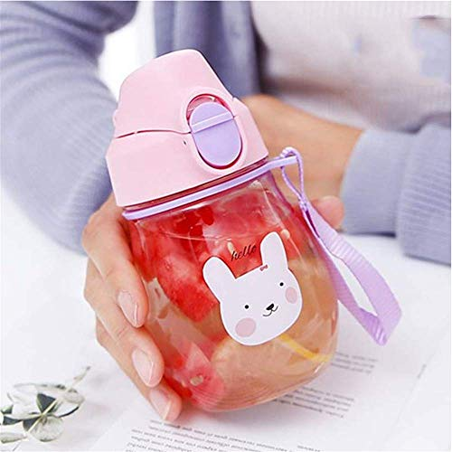Zhuo Qun Shang Mao 350 ml Tasse mit Strap Baby Fütterung Wasser Trinken Leck Beweis Flasche mit Stroh Baby Lernen Trinken