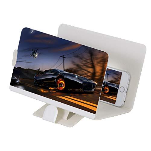 rstärker Videotelefonie des Film 8 Zoll Bildschirmlupe HD Expander Ständerhalter Projektor (Weiß) ()