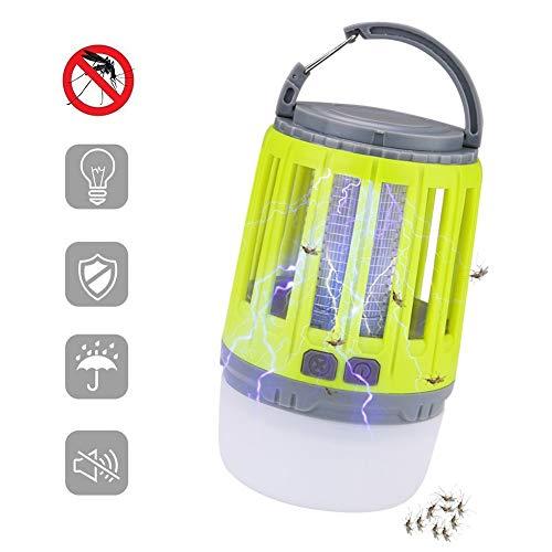 WYJWFYBZ 2 In 1 USB Aufladbare LED Moskito Mörder Lampe Hohe/Niedrige Licht 360-400NM UV Moskito Zapper Licht Für Schlafzimmer, Garten, Camping (Yellow)