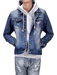 fe6a24fa219f ODRD Clearance Sale  S-4XL  Herren Damen Pullover Männer Hoodie Denim  Pockets Lange Ärmel Jacke Parka Pulli Sweatshirt Freizeit…