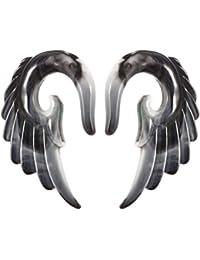 Ofgcfbvxd Túneles de Tapones para los oídos de Las Mujere Piercing 2pcs acrílico Espiral Taper Piercing