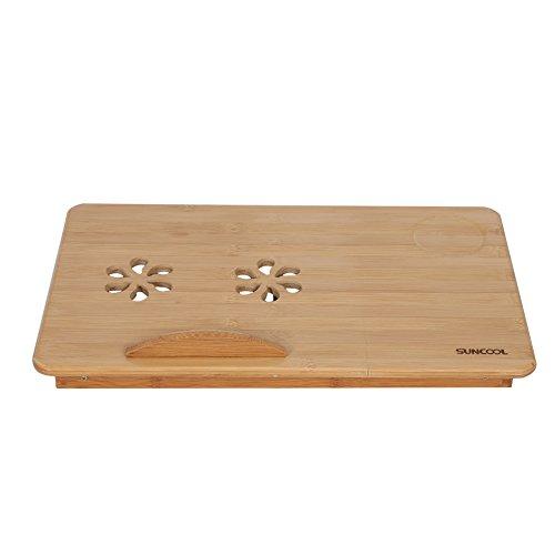 isch, tragbare klapp Bambus Bett Laptop Schreibtisch einstellbare Lap Notebook Tisch Stehen Fach mit schublade ()