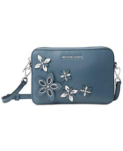 Michael Kors Flowers 32H6SFAM2L Damen Tasche Handtasche Henkeltasche Abendtasche Schultertasche Clutch denim