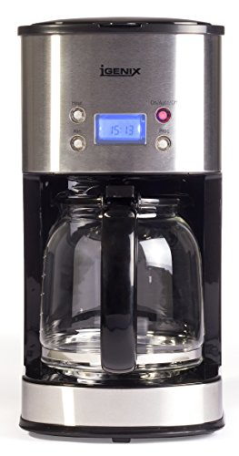 41HqSEXVSbL - Igenix IG8250 Digital Filter Coffee Maker, 12 Cup Carafe, Automatic 24 Hour Timer and Keep Warm Function, Removable…