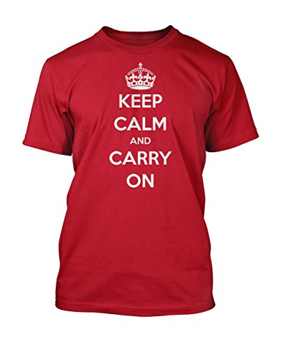 Keep Calm and Carry On Men's Unisex World War II Poster T-Shirt. Sizes up to 3XL by Glare UK
