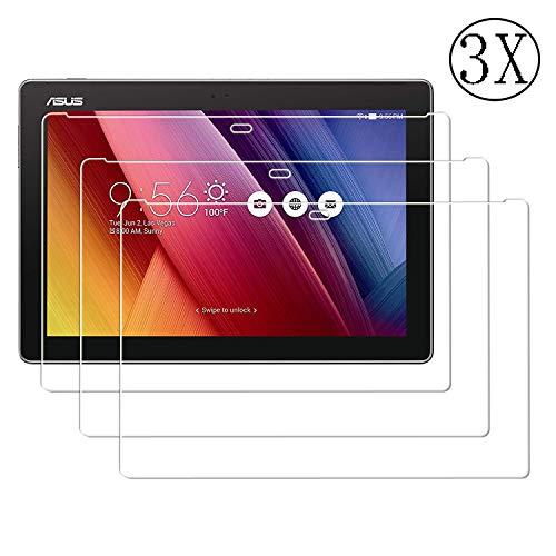 JHTC 3 X Schutzfolie für ASUS ZenPad 10, Gehärtetem Glas Anti-Kratzen Bildschirmschutzfolie HD Glasfolie Bildschirm Schutz Folie für ASUS ZenPad 10 Z300M/Z300C/Z300CG/Z300CL/Z301M/Z301ML/Z301MF/Z301MFL