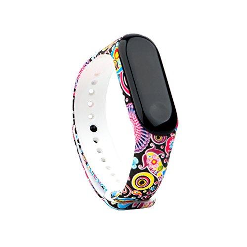 Fit-power - Cinturino di Ricambio per Xiaomi Mi Band 3 (Non per Mi Band 2/1S), Miband3-04