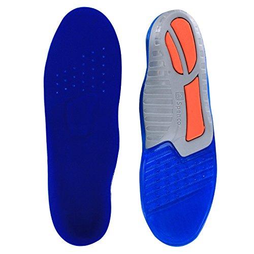 Spenco Total Support orthopädisch-e Komfort Gel Schuheinlage-n mit Senkfußstütze Spreizfußstütze, Geleinlage-n waschbar Herren Gr.44-46, zuschneidbar unisex (44/46)