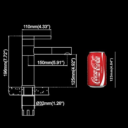 Homelody – Elegante Einhebel-Waschtischarmatur, ohne Ablauf, 2-facher Schwenkauslauf 360°, Weiß-Chrom - 6
