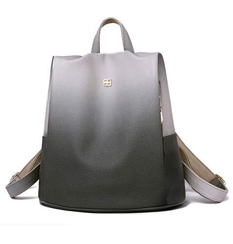 VONMIR Damen Rucksack Anti Diebstahl PU Handtasche Farbverlauf CityRucksack (Grau)