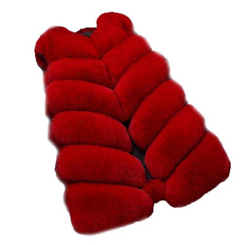 FOLOBE Womens \'Winter Warm Faux Pelz Weste Mantel Jacke
