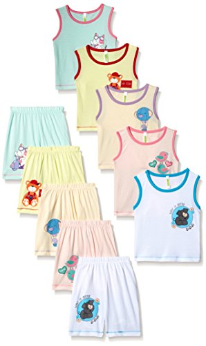 Cherish Baby Boy's Clothing Sets (Pack of 5) (INFSTW-04 _Yellow,Cream,Light pink,White and Seagreen_ 9/12Month)