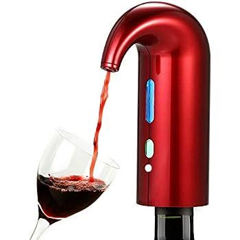 Noir A/érateur et Distributeur de Vin Rouge Distributeur Automatique doxydants de Vin Multi-Smart Verseur Rechargeable