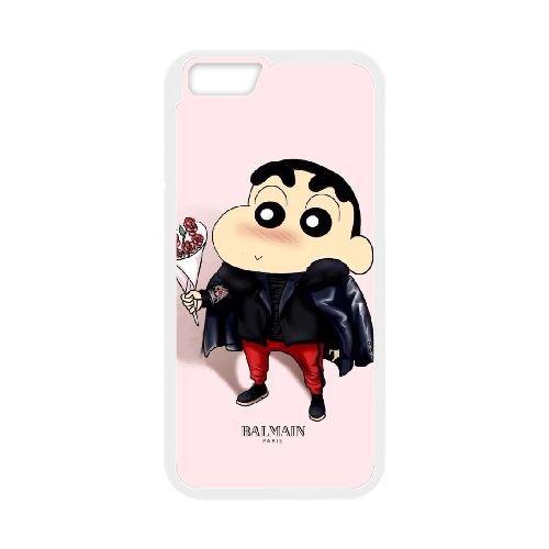 Crayon Shin Chan coque iPhone 6 Plus 5.5 Inch Housse Blanc téléphone portable couverture de cas coque EBDXJKNBO16778