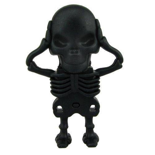 818-Shop No7900070016 Hi-Speed 2.0 USB-Sticks 16GB Skelett Horror 3D schwarz (Skelett-shop)