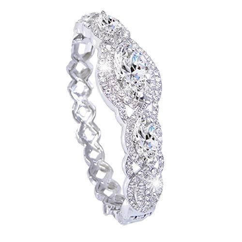chischen Kristall Zircon 3 Marquise-Shape Braut Armband klar N02153-1 ()