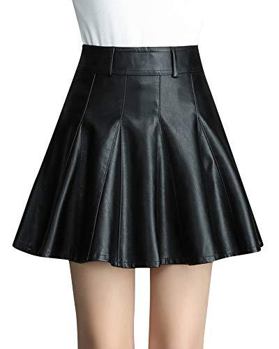 Quge Faldas Mujeres A Línea Mini Falda Plisadas De