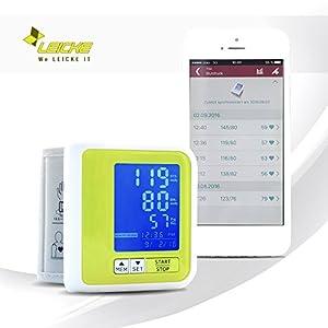 Leicke Sharon Bluetooth Handgelenk-Blutdruckmessgerät mit Akku, Arrhythmieanzeige, weiß
