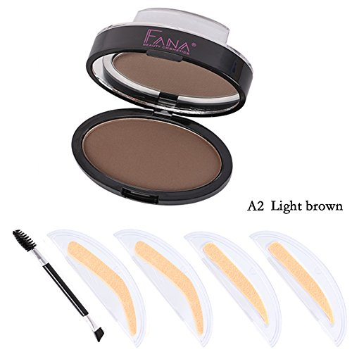 Oyalaiy Quick Eyebrow Powder + 2 Stamp Seal + Brush Eye Brow Tools