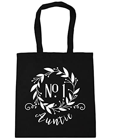 HippoWarehouse Number One Auntie Floral Reef Tote Shopping Gym Beach Bag 42cm x38cm, 10 litres