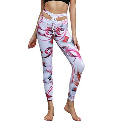 SIOPEW Pantalon De Sport Pour Femmes, Hybride, Sans Couture, Hip-Up(White,S)