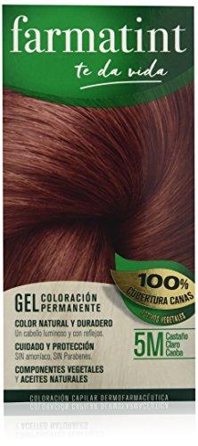 Farmatint Gel 5M Castaño Claro Caoba   Color natural y duradero   Componentes vegetales y aceites naturales...
