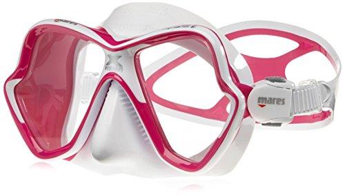 Mares Erwachsene Taucherbrille Mask X-Vision Ultra LS, Rosa/Weiss, BX, 411052