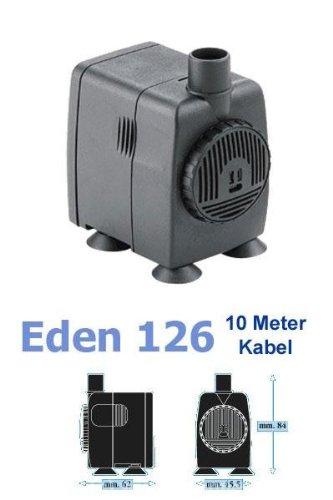 Eden 126 Wasserpumpe mit 10m Kabel (20 W, 800 l/h, 1,50 m Förderhöhe), hochwertige Qualitätspumpe, kleine Pumpe für Ihren Garten- und Zimmerbrunnen