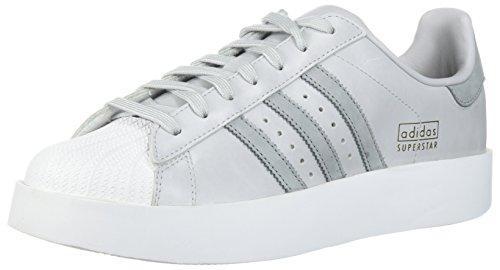 adidas Originals Women's Superstar Bold W Sneaker, Light Solid Grey/Mid Grey/White, 10.5 Medium US