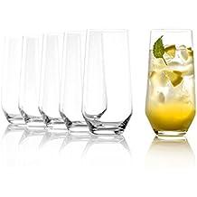 Stölzle Lausitz Wassergläser/Longdrinkgläser Revolution 390ml, 6er Set Gläser, spülmaschinenfest, hochwertige Qualität, bleifreies Kristallglas, ohne Füllstrich