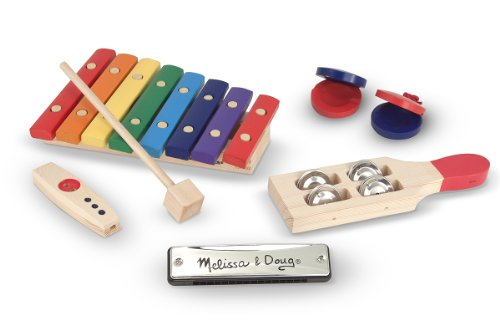 Melissa & Doug Beginner Band Set: Crafted for Years of Play! 7 Piece Set: Ages 3+ (Melissa Doug Musikinstrumente Und)