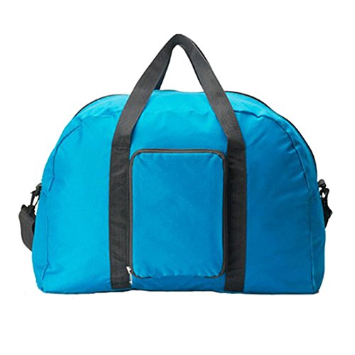 Women Tote Bag - TOOGOO(R)Unisex Women Duffle Gym Travel Luggage Suitcase Sports Tote Bag Weekend Handbag Light blue