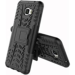 RONGZOM - Samsung Galaxy C7 Pro Coque, Heavy Duty Antichoc 360 Degres Protection Bumper Non Slip Surface Housse Etui pour Samsung Galaxy C7 Pro 5.7 inch (Noir)
