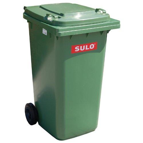 Conteneur à ordures ménagères SULO MGB 80 L, Vert, tri sélectif, 2 roues et couvercle (22122)
