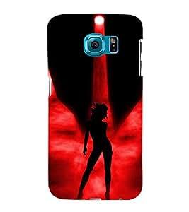 Fiobs Designer Back Case Cover for Samsung Galaxy S6 G920I :: Samsung Galaxy S6 G9200 G9208 G9208/Ss G9209 G920A G920F G920Fd G920S G920T (Lady Girl Ladki Scarf Lovely Good Gift )