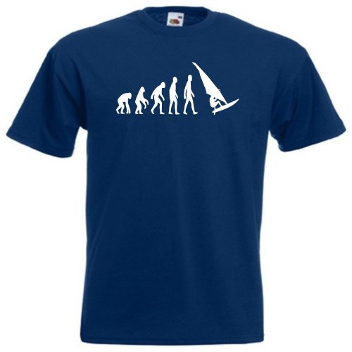 41HqaDzrzvL - BEST BUY #1 Evolution of man windsurfing T-shirt 390 - Navy - Medium Reviews and price compare uk