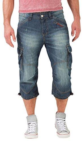 Timezone Herren Shorts Loose Miles, Blau (Blue Tint Wash 3133), W34