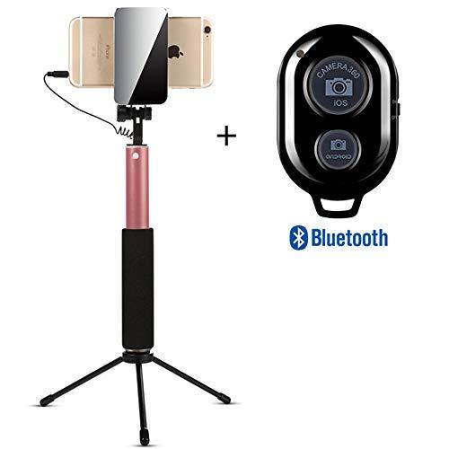 ZMXZMQ Professionelles High-end-Selfie-stativ Od Für iPhone, Android-Telefon, Abnehmbare Drahtlose Bluetooth-Fernbedienung (Schwarz, Gold, Rose,Rosegold