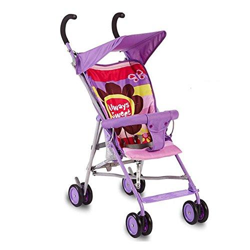 YXINY Kombikinderwagen Kinderwagen Leicht Tragbar Regenschirm Auto Kinderwagen Kann Sitzen Kann Sein Hinlegen Kinderwagen Für Kinder Baby Buggy ( Farbe : Lila )