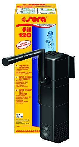 Sera 06844 fil 120 Aquarium-Innenfilter (700 l/h für Aquarien bis 120 l) in Modulbauweise mit Filtermedien (mit Schwamm, Aktivkohle und siporax mini)