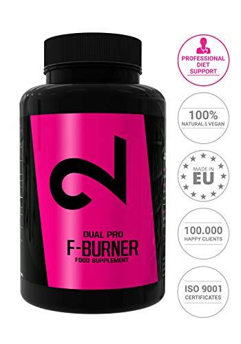 Dual Pro Fat-Burner|Brûleur de Graisses EXTRÊME Végétalien Hommes/Femmes|100 Gélules...