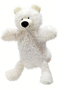 ABA 28cm marioneta de mano de oso con patas (Blanco)