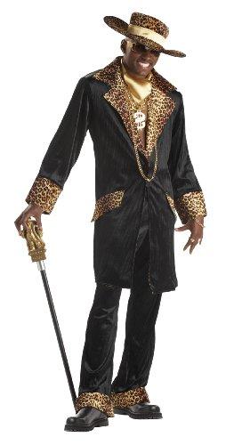 Generique - Kostüm Disco Mac für Männer XL (44/46) (Pimp Mantel Kostüm)