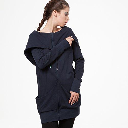THOKKTHOKK TT1013 Yuki Zipjacket Eclipse Woman aus 100% Biobaumwolle hergestellt // GOTS & Fairtrade Zertifiziert, Größe:S/M - 5