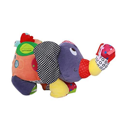 Earlyad Karikatur Elefant Plüsch Spielzeug Tier Plüsch Puppe Spielzeug,Geburtstag Geschenk für 0-3 Years Old Mädchen Junge